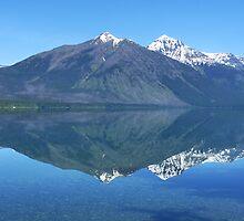 Reflection in Lake McDonald by Lucinda Walter