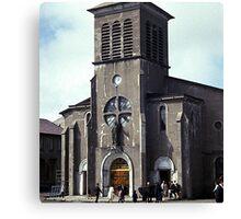 Church, St. Pierre and Miquelon Canvas Print