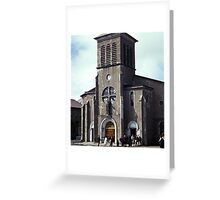Church, St. Pierre and Miquelon Greeting Card