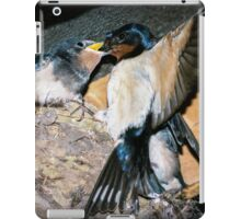 Swallow feeds chick. iPad Case/Skin