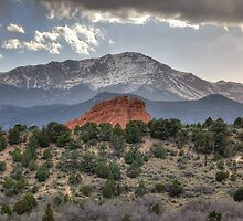 Pike's Peak and Garden of the Gods by antonalbert1