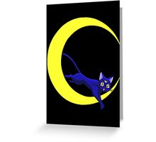 Luna Cat of Sailor Moon Greeting Card