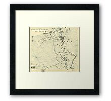 World War II Twelfth Army Group Situation Map October 23 1944 Framed Print