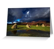 Dark over Light Greeting Card