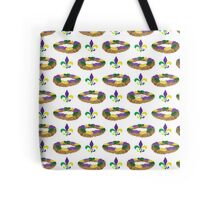 King Cake and Fleur de Lis Pattern Tote Bag