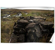 Peat stack, North Uist Poster