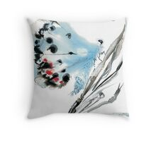 Lazy Blue Butterfly Throw Pillow
