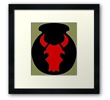 34th Infantry Division 'Red Bull' (United States) Framed Print