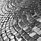 Cobblestone pavement after rain by Gabor Pozsgai