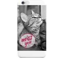Black and white photo with the cat iPhone Case/Skin