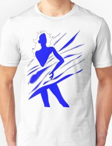 Model of Girl in the blue tones  T-Shirt
