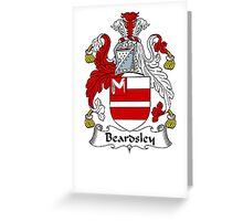 Coat of arms (family crest) for last-name or surname Beardsley . Heraldry banner for your name. Greeting Card