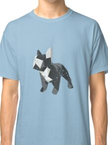 Cute little french bulldog low poly Classic T-Shirt