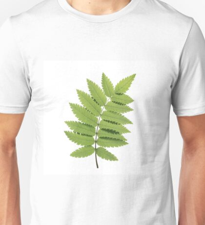 Green Rowan Leaf Unisex T-Shirt