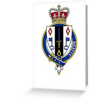 Coat of arms (family crest) for last-name or surname Beatty or Beattie (Scotland) . Heraldry banner for your name. Greeting Card