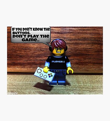 If you don't know the buttons Photographic Print