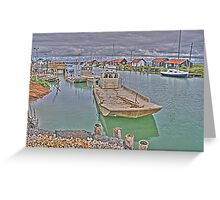 Oyster Harbour in La Tremblade, France Greeting Card