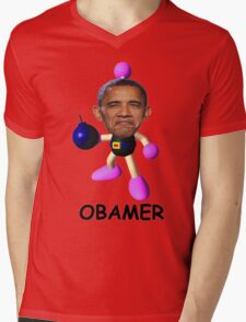 OBAMER Mens V-Neck T-Shirt