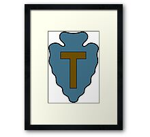 36th Infantry Division 'Arrowhead' (United States) Framed Print