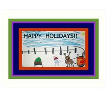 HAPPY HOLIDAYS FROM JOSELYN ROSE-2010 Art Print
