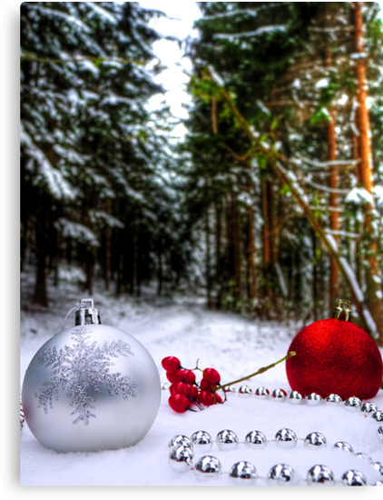 Christmas Snow Baubles by Luke Griffin