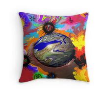 In SplatterWay Galaxy, There Came A Time When the Eyes Needed A Hand Throw Pillow