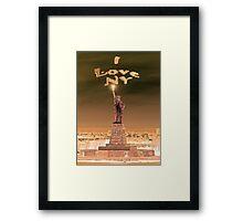 Statue of Liberty New York City Framed Print