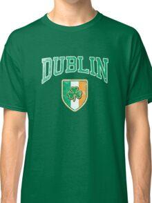 Dublin, Ireland with Shamrock Classic T-Shirt