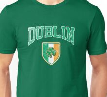 Dublin, Ireland with Shamrock Unisex T-Shirt
