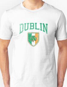 Dublin, Ireland with Shamrock Unisex T-Shirt