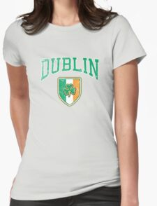 Dublin, Ireland with Shamrock Womens Fitted T-Shirt