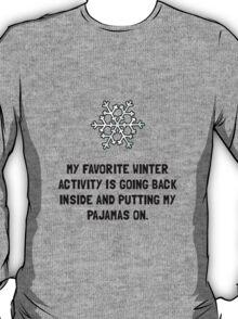 Winter Pajamas T-Shirt