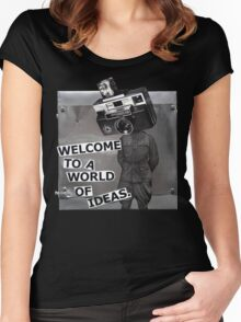 Welcome to a World of Ideas Women's Fitted Scoop T-Shirt