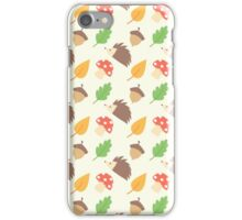 Fall Hedgehog Pattern iPhone Case/Skin