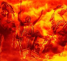 Spirit of Boudica Rising by Nigel Fletcher-Jones