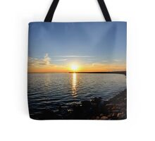 Power Station Sunset. Tote Bag
