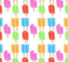 Colorful Popsicle Pattern  by adorkible