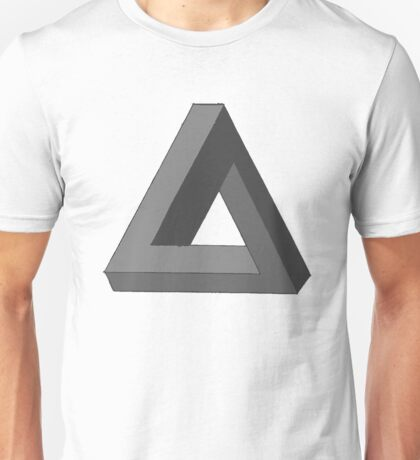 Impossible Geometry in Grey Unisex T-Shirt