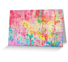 Neon Notes Greeting Card
