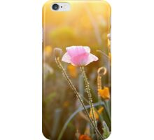 spring flowers at sunset iPhone Case/Skin