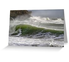 Spindrift in Green Greeting Card
