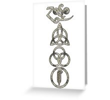 TRIQUETRA - the clouds V Greeting Card