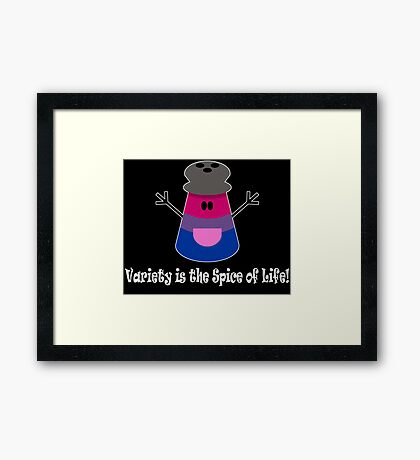 Parody: Variety is the Spice of Life! (Bisexual) Framed Print