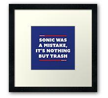 MISTAKE #0001 Framed Print