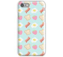 Cute Breakfast Pattern iPhone Case/Skin