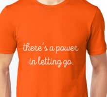 there's a power in letting go (red/pink) Unisex T-Shirt