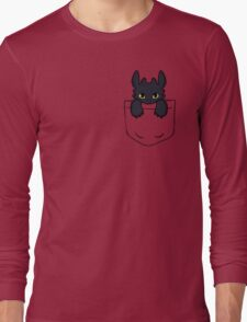 Pocket Toothless Long Sleeve T-Shirt