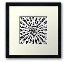 Vintage Grunge Ray Lights Framed Print