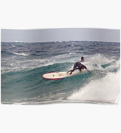 Surfer, Snapper Rocks, Qld, 28112010 #1 Poster