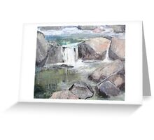Rocks and Forest Pool Greeting Card
